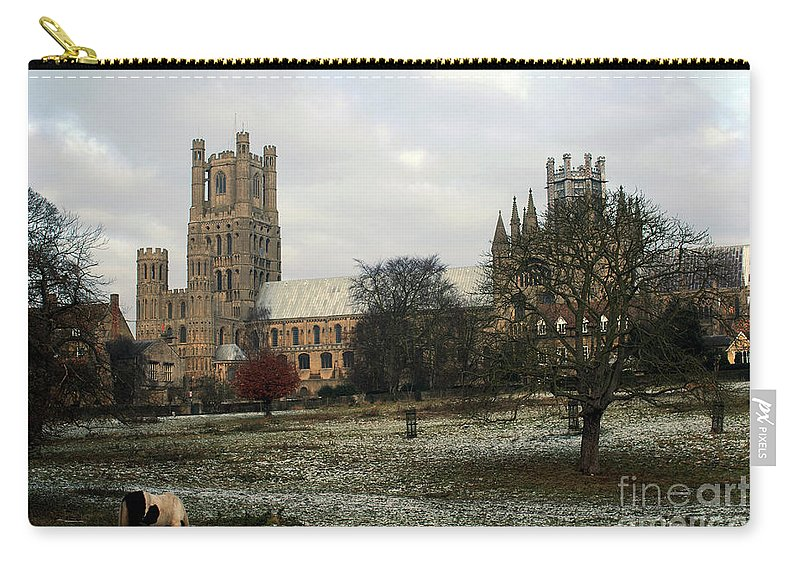 United Kingdom Carry-all Pouch featuring the photograph Ely Cambridgeshire, Uk. Ely Cathedral by Richard Wareham