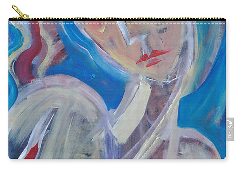 Woman Carry-all Pouch featuring the painting Embrace Me by Tim Nyberg