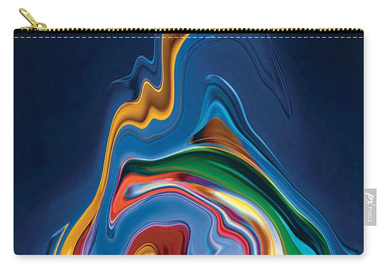 Carry-all Pouch featuring the digital art Embrace by Rabi Khan