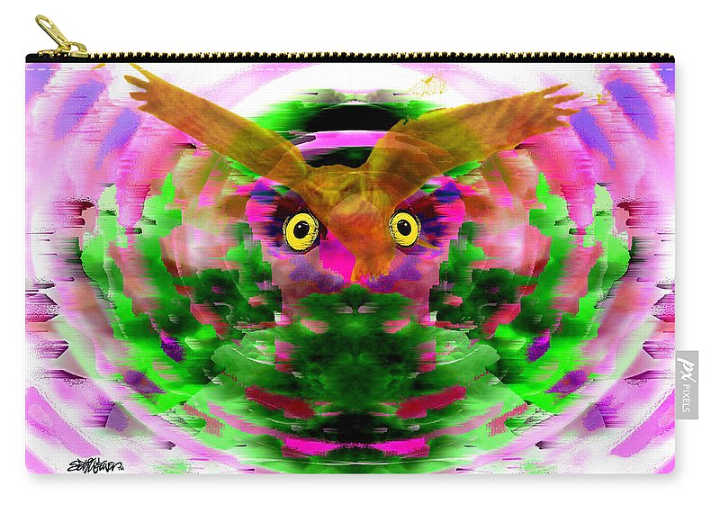 Embrace Carry-all Pouch featuring the digital art Embrace The Wind by Seth Weaver