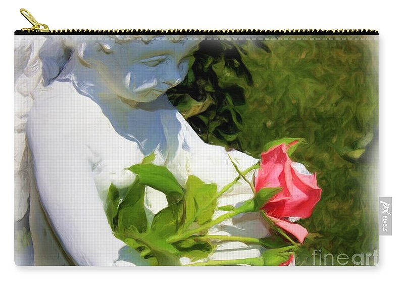 Gardens Carry-all Pouch featuring the photograph Embracing Angel by Carol Groenen