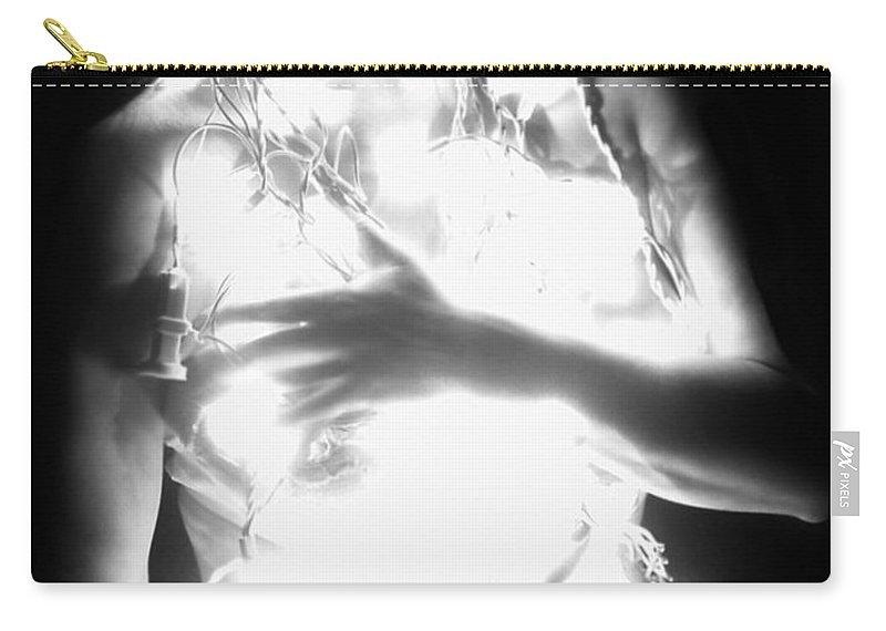 Artistic Carry-all Pouch featuring the photograph Embracing Light - Self Portrait by Jaeda DeWalt