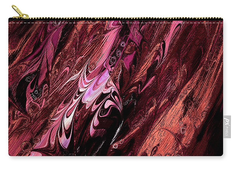 Abstract Carry-all Pouch featuring the digital art Embryos by Rachel Christine Nowicki