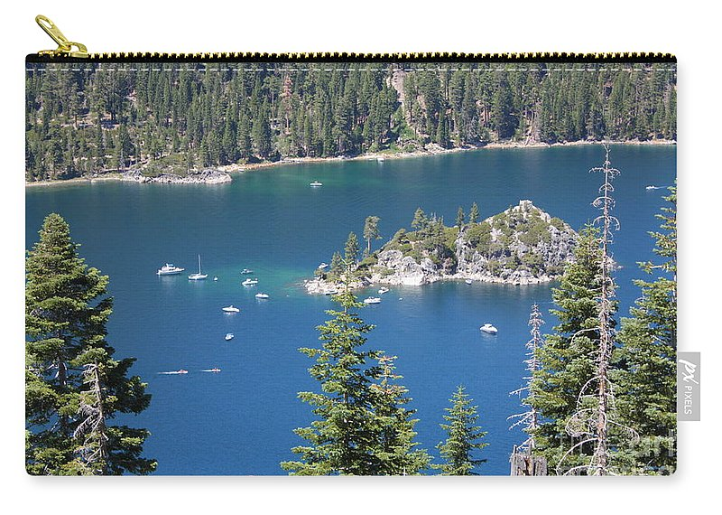 Emerald Bay Carry-all Pouch featuring the photograph Emerald Bay by Carol Groenen