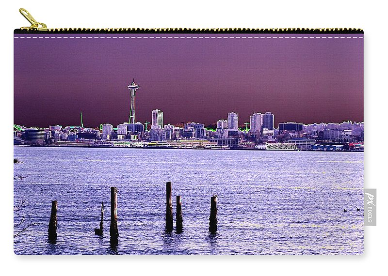 Seattle Carry-all Pouch featuring the photograph Emerald City Skyline by Tim Allen