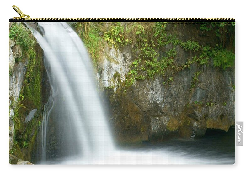 Waterfall Carry-all Pouch featuring the photograph Emerald Falls by Marty Koch