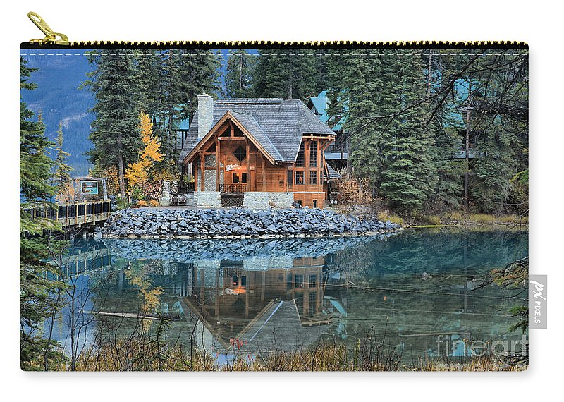 Cilantro Restaurant Carry-all Pouch featuring the photograph Emerald Lake Cilantro by Adam Jewell