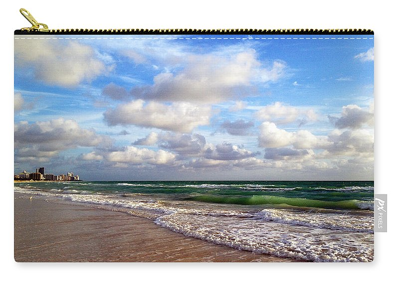 Angel Carry-all Pouch featuring the photograph Emerald Seas by Raymel Garcia