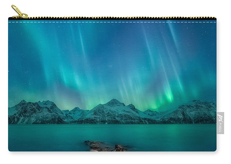Emerald Carry-all Pouch featuring the photograph Emerald Sky by Tor-Ivar Naess