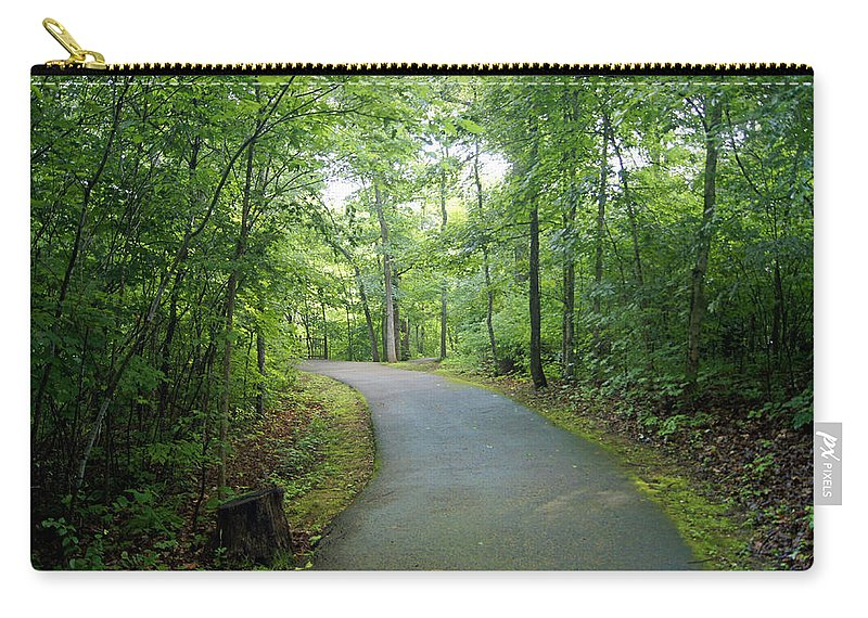 emerald Trail Carry-all Pouch featuring the photograph Emerald Trail by Cricket Hackmann