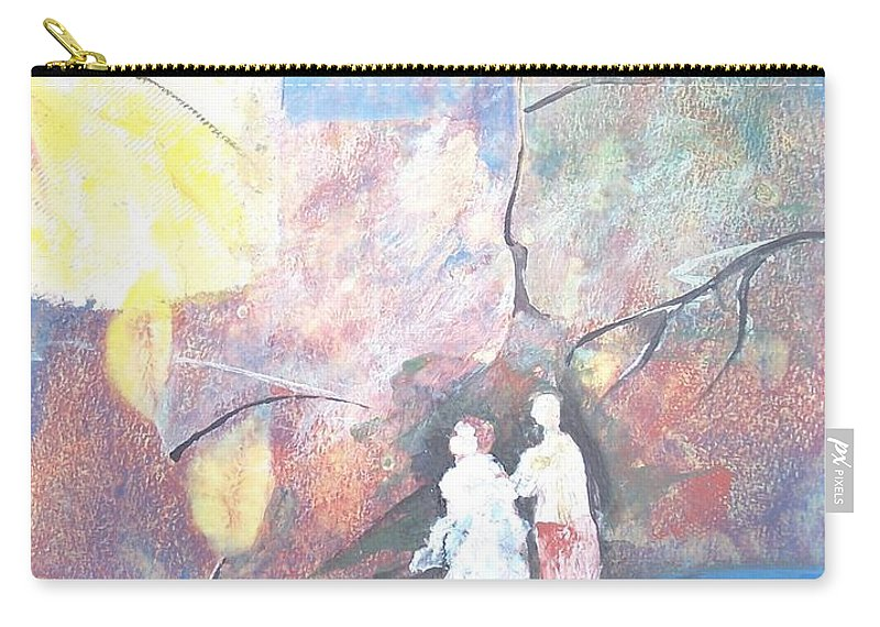 Collage Carry-all Pouch featuring the painting Emergence by Christine Lathrop