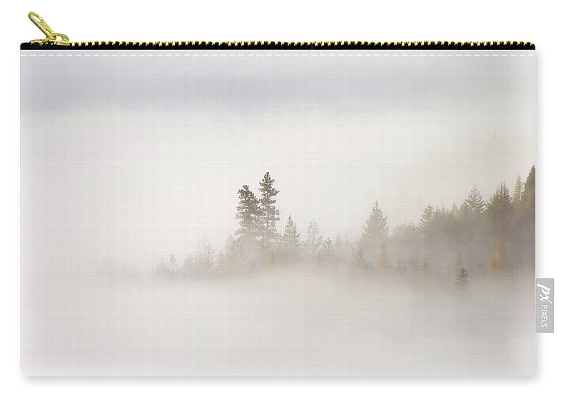 Fog Carry-all Pouch featuring the photograph Emergence by Mike Dawson