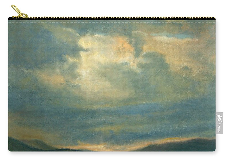 Southwest Carry-all Pouch featuring the painting Emergence by Phyllis Tarlow