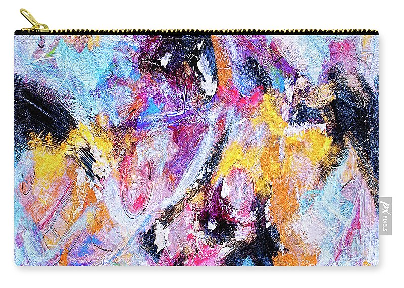 Abstract Carry-all Pouch featuring the painting Emergent by Dominic Piperata