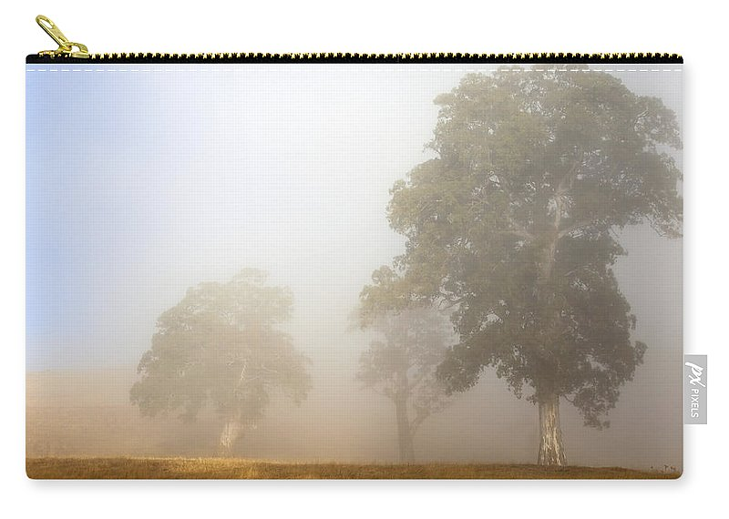 Gum Tree Carry-all Pouch featuring the photograph Emerging From The Fog by Mike Dawson