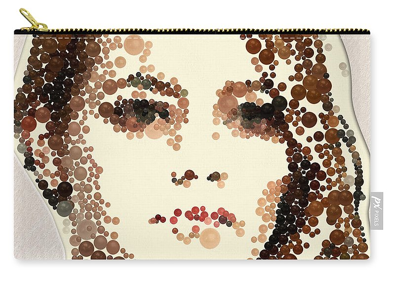 Emma Stone Carry-all Pouch featuring the digital art Emma Stone by Drazen Kirchmayer