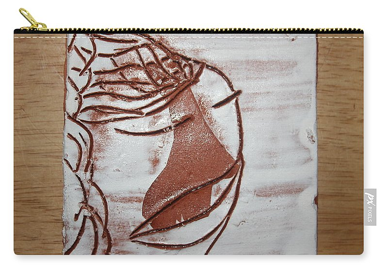 Jesus Carry-all Pouch featuring the ceramic art Emmett - Tile by Gloria Ssali