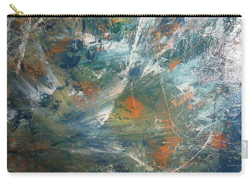 Non Duality Carry-all Pouch featuring the painting Emotional Deluge by Paula Andrea Pyle