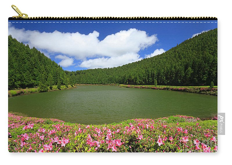 Azoren Carry-all Pouch featuring the photograph Empadadas Lakes by Gaspar Avila