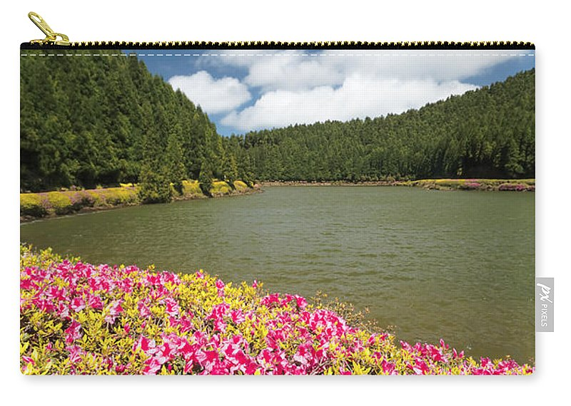 Portugal Carry-all Pouch featuring the photograph Empadadas Lakes II by Gaspar Avila