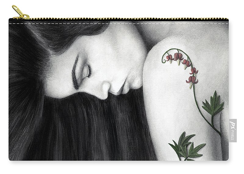 Woman Carry-all Pouch featuring the painting Empathy by Pat Erickson