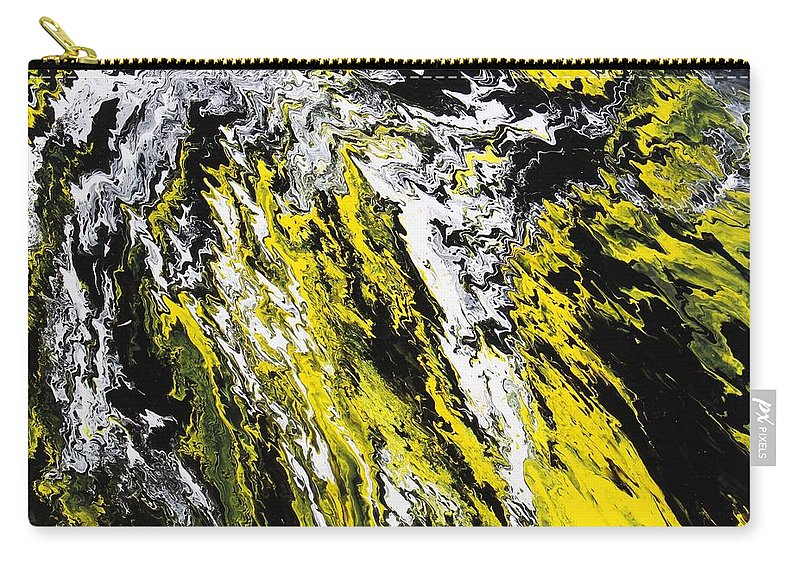 Abstract Carry-all Pouch featuring the painting Emphasis by Ralph White