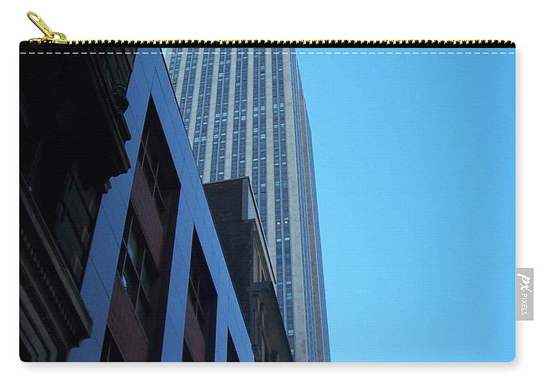Emoire State Building Carry-all Pouch featuring the photograph Empire State 1 by Anita Burgermeister