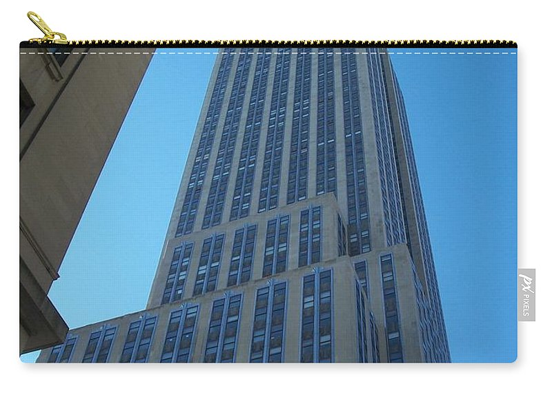 Emoire State Building Carry-all Pouch featuring the photograph Empire State 2 by Anita Burgermeister
