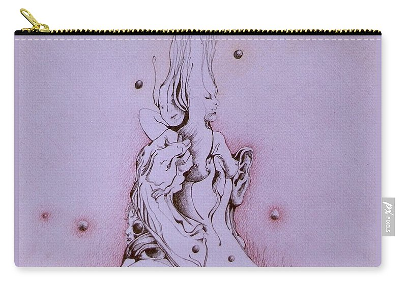 Surreal Aratwork Carry-all Pouch featuring the painting Empowerment by Jordana Sands