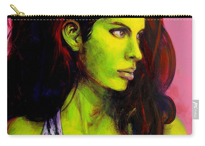Girl Carry-all Pouch featuring the painting Empress At Rest by Jason Reinhardt