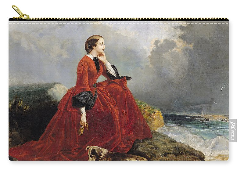 Empress Carry-all Pouch featuring the painting Empress Eugenie by E Defonds