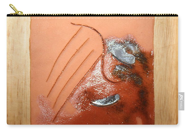 Jesus Carry-all Pouch featuring the ceramic art Emptiness - Tile by Gloria Ssali