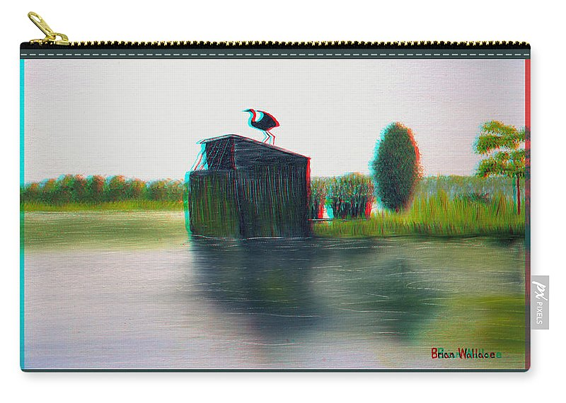 3d Carry-all Pouch featuring the photograph Empty Blind - Use Red-cyan 3d Glasses by Brian Wallace
