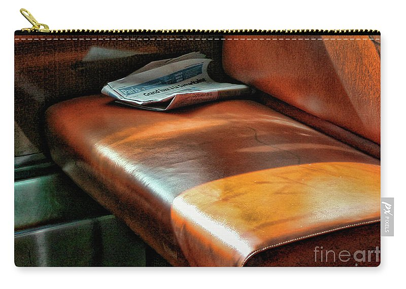 France Carry-all Pouch featuring the photograph Empty Seat Train To Versailles From Paris. by Chuck Kuhn