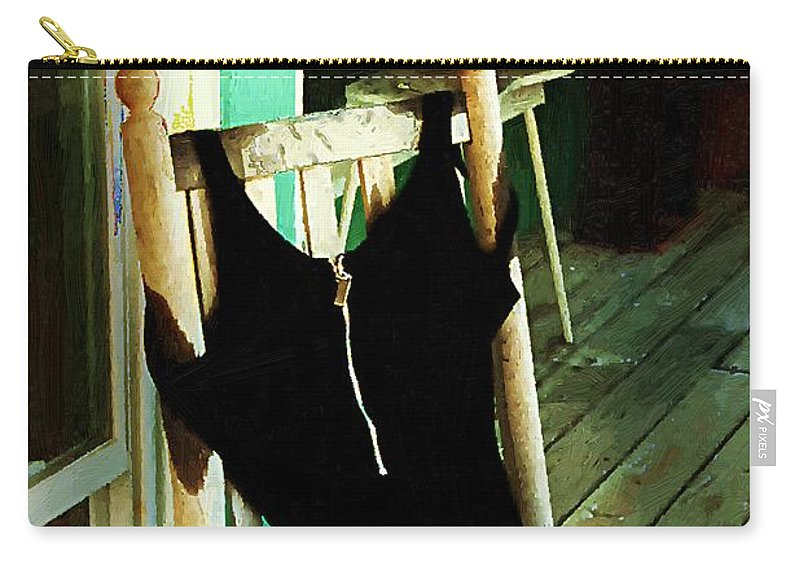 Bathing Suit Carry-all Pouch featuring the painting Empty Suit by RC DeWinter