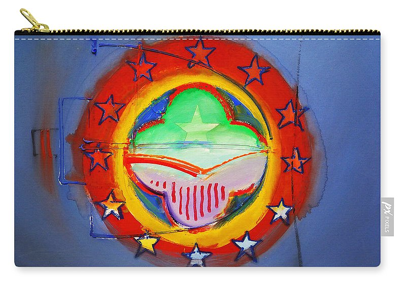 Symbol Carry-all Pouch featuring the painting EMU by Charles Stuart