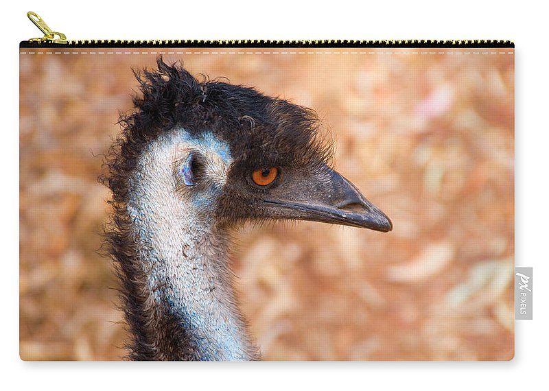 Emu Carry-all Pouch featuring the photograph Emu Profile by Mike Dawson