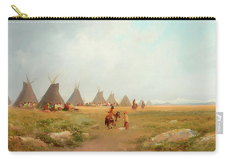 Encampment Carry-all Pouch featuring the painting Encampment by Frederick Schafer