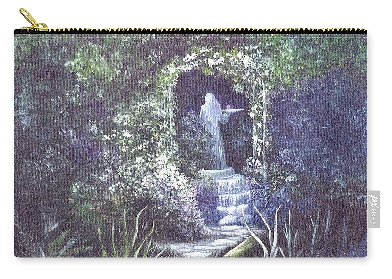 Arbor Carry-all Pouch featuring the painting enchanced Temptation Coming by Penny Neimiller