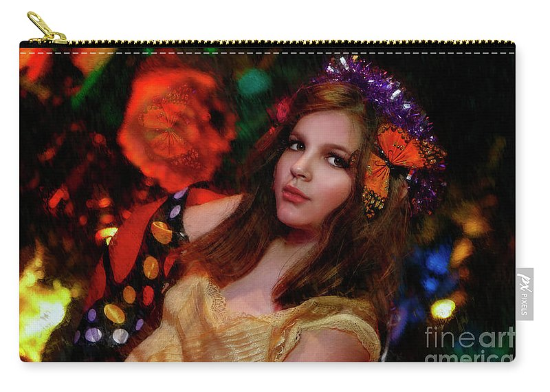 Carry-all Pouch featuring the photograph Enchanted Butterfly by Blake Richards