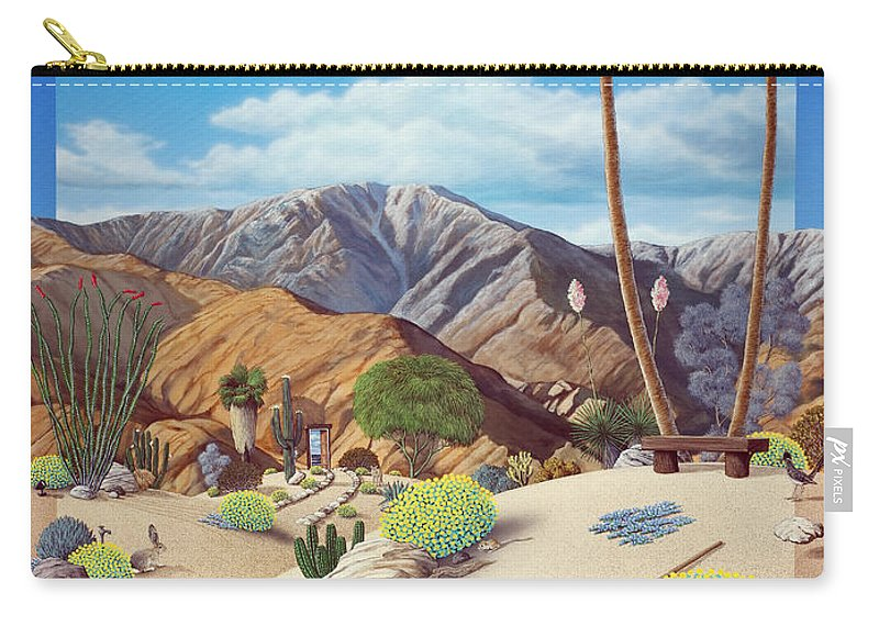Desert Carry-all Pouch featuring the painting Enchanted Desert by Snake Jagger