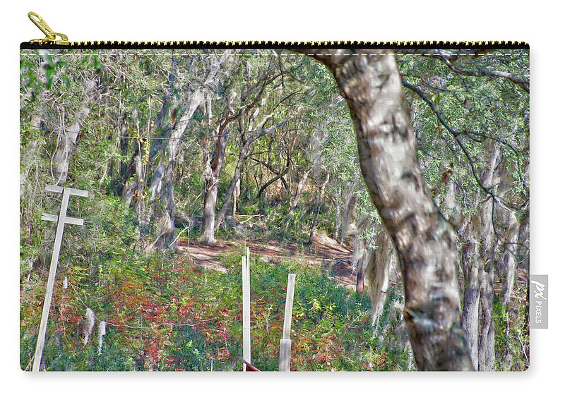 Enchanted Forest Carry-all Pouch featuring the photograph Enchanted Forest by Gina O'Brien