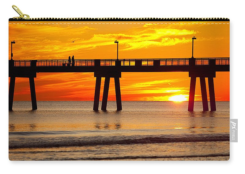 Fishing Pier Carry-all Pouch featuring the photograph Enchanted by Janet Fikar