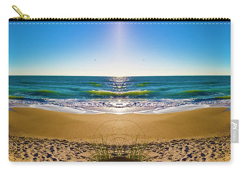 Topsail Island Carry-all Pouch featuring the photograph Enchanted Mirror by Betsy Knapp