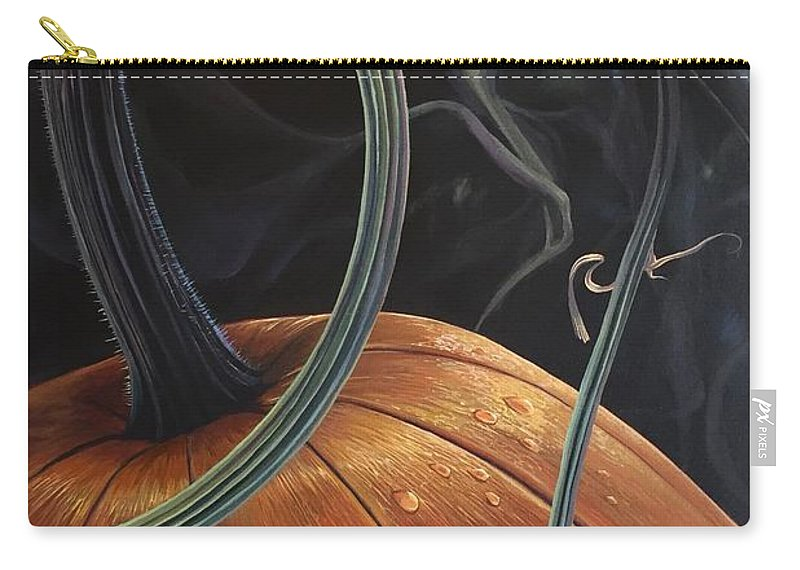 Pumpkin Carry-all Pouch featuring the painting Enchantment by Hunter Jay