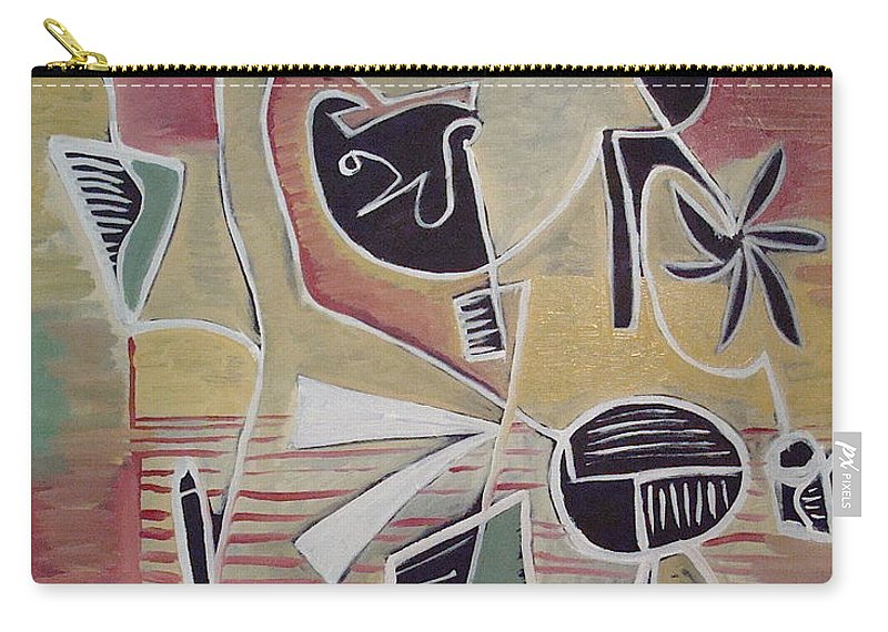 Abstract Carry-all Pouch featuring the painting End Cup by W Todd Durrance