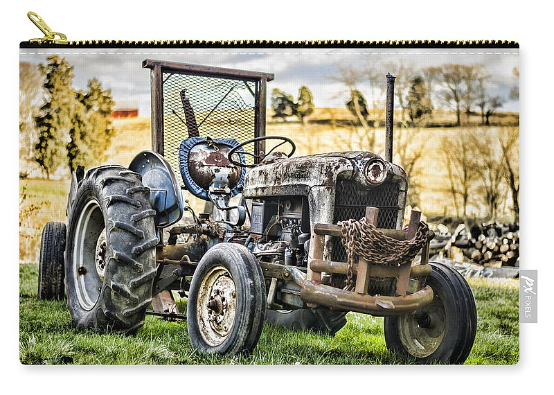 Tractor Carry-all Pouch featuring the photograph End Of A Days Work by Heather Applegate