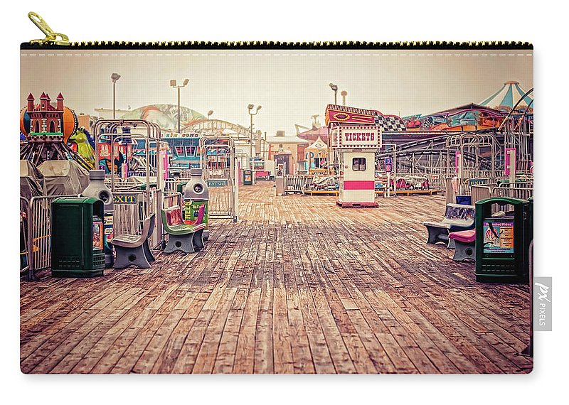 Boardwalk Carry-all Pouch featuring the photograph End Of Summer by Heather Applegate