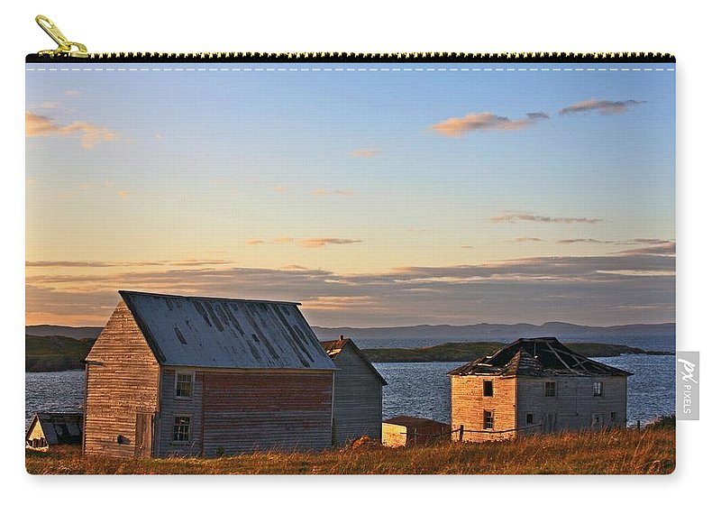 Trinity Bay Carry-all Pouch featuring the photograph End Of The Day In Trinity Bay, Newfoundland by Tatiana Travelways