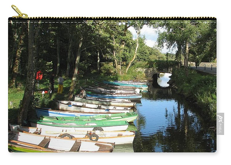 Boat Carry-all Pouch featuring the photograph End Of The Day by Kelly Mezzapelle